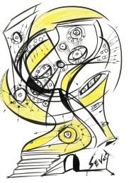 Original Drawing by Sevard, N23, 29.7 x 21 mm