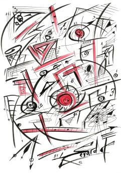 Original Drawing by Sevard, N24, 29.7 x 21 mm