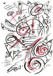 Original Drawing by Sevard, N25, 29.7 x 21 mm