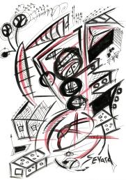 Original Drawing by Sevard, N26, 29.7 x 21 mm