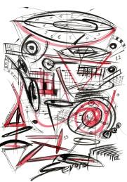 Original Drawing by Sevard, N27, 29.7 x 21 mm