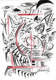Original Drawing by Sevard, N28, 29.7 x 21 mm